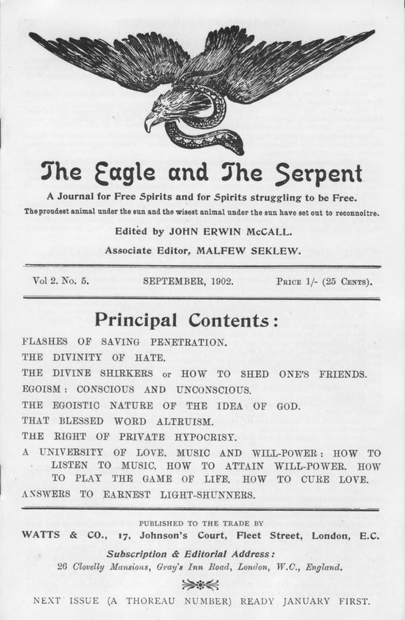 SA1050 | The Eagle and The Serpent Vol. 2 No. 5 | Lt.Ed. 66