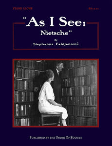 "SA1111 | ""As I See: Nietsche"" 