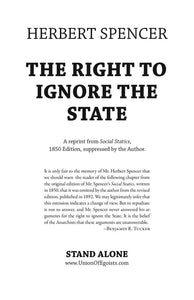 SA1033 | The Right to Ignore the State | Herbert Spencer |  Ltd.Ed. 66