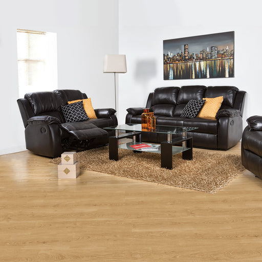 Sofa Reclinable  Munich Eurocuero Negro