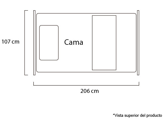 Cama Twin Basic Amoreto