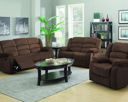 Sofa Reclinable  Nico Microfibra Chocolate