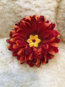 Red Floral Hair Clip