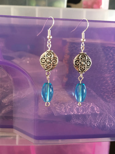 Blue Celtic Earrings