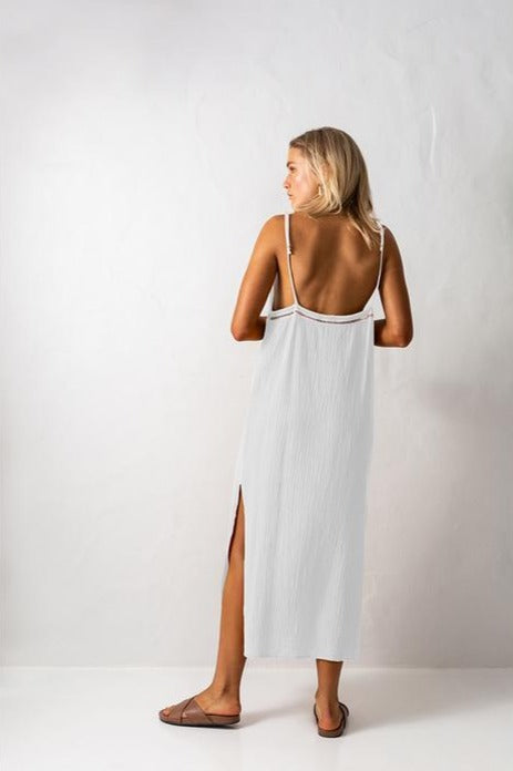 Bird & Knoll White Valentina Dress