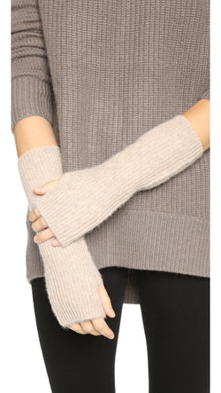 White + Warren Plush Truffle Heather Rib Arm Warmer