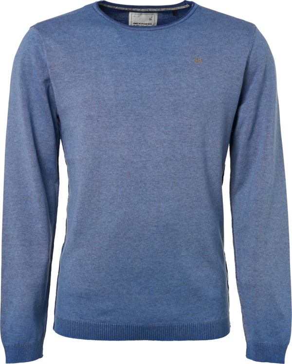 No Excess Indigo Blue Round Neck Cold Dye Pullover