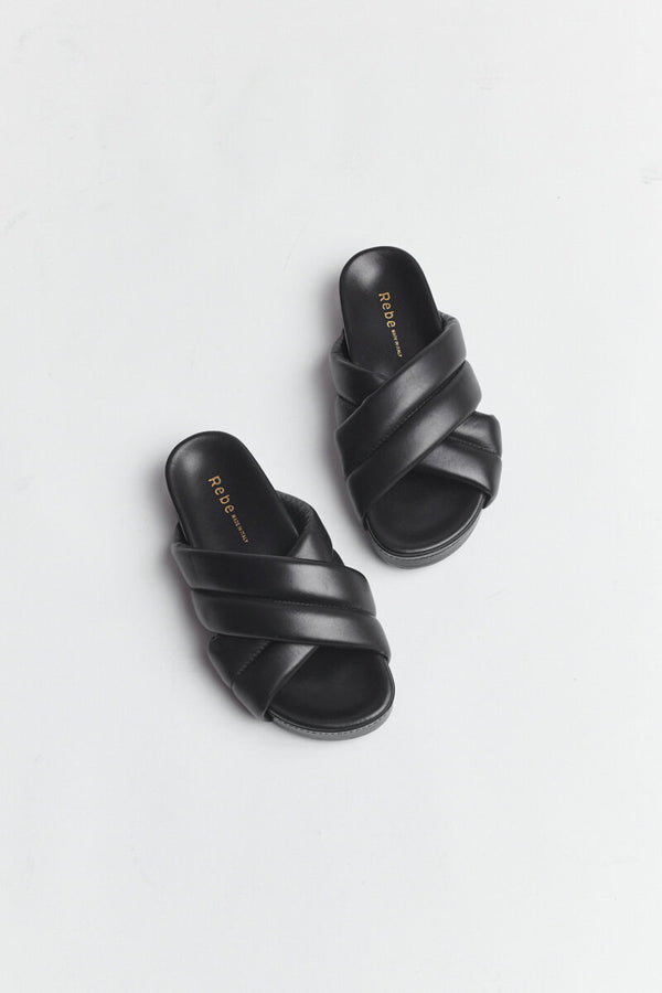 Rebe Black Stella Slide