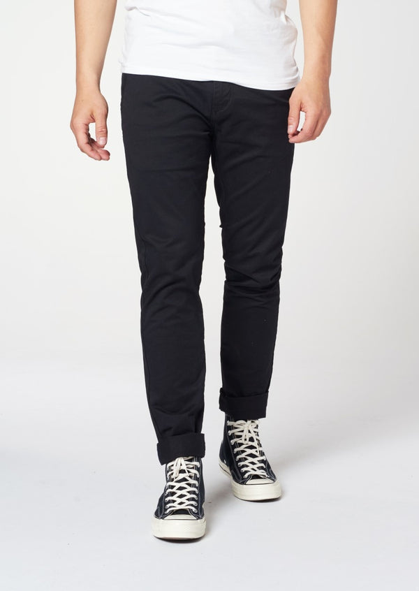 DSTREZZED Presley Twill Stretch Woven Chino With Belt