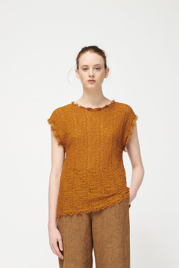 Pomandere Amber Intertwined Lace Top