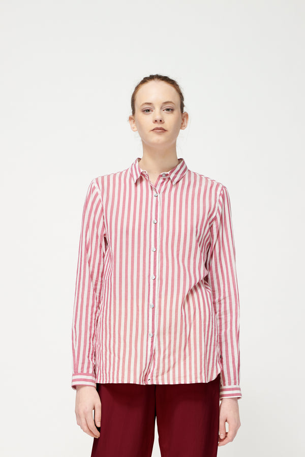 Pomandere Crimson Stripe Shirt
