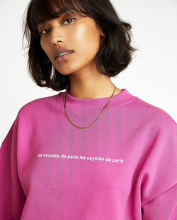 Les Coyotes De Paris 80's Purple Ross Sweatshirt