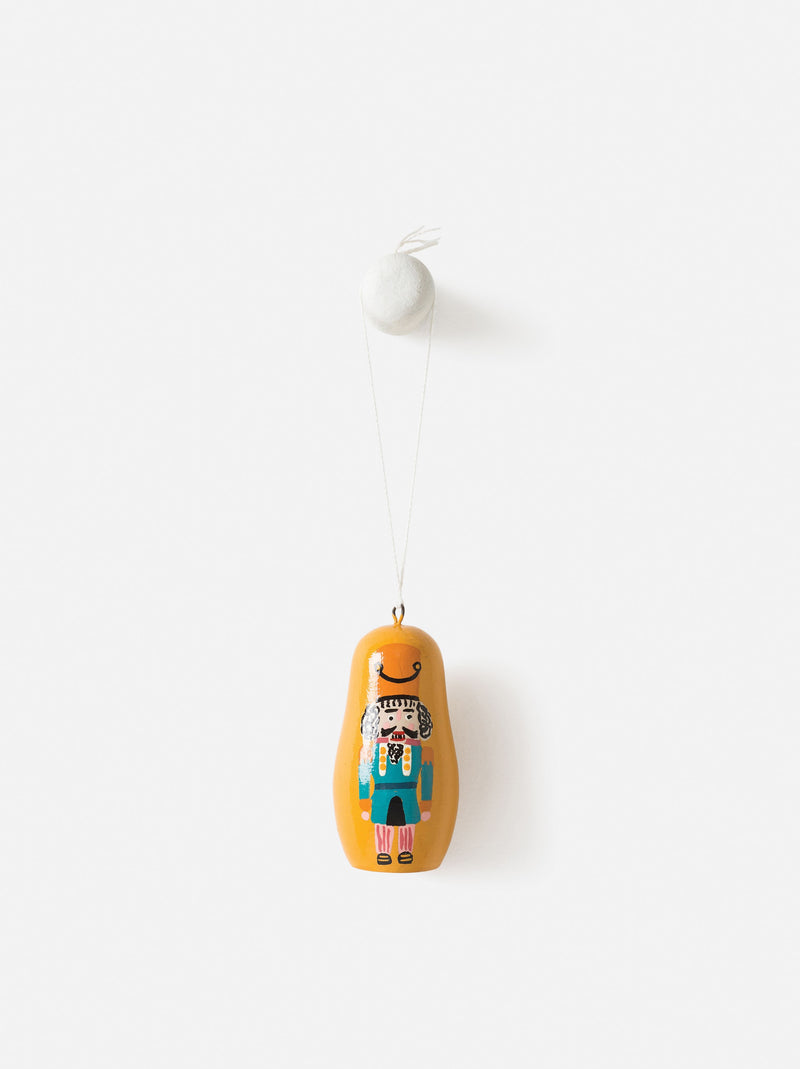 Città Yellow Hand Painted Hanging Nutcracker