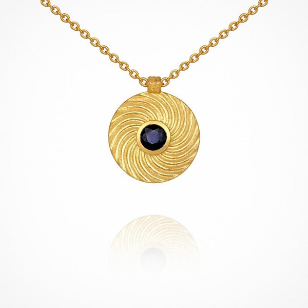 Temple Of The Sun Sapphire Shine Necklace