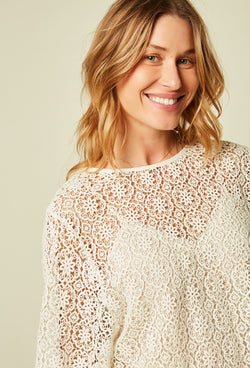 Stella Forest Ecru Lace Tunic