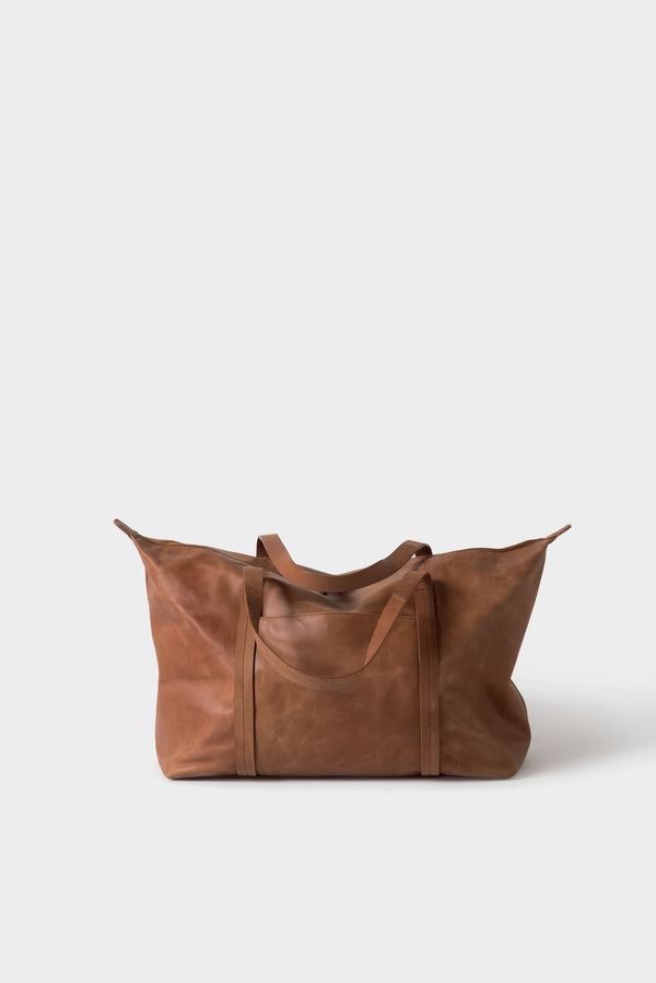 Città Tan Frank Leather Duffle Bag