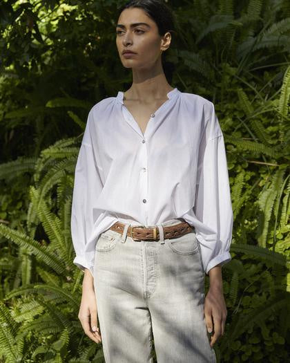 Mahsa White Everyday Blouse
