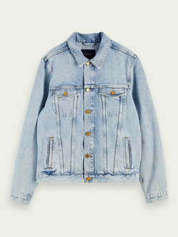 Scotch & Soda Ams Blauw Trucker Jacket