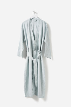 Città Duck Egg Bella Linen Dressing Gown