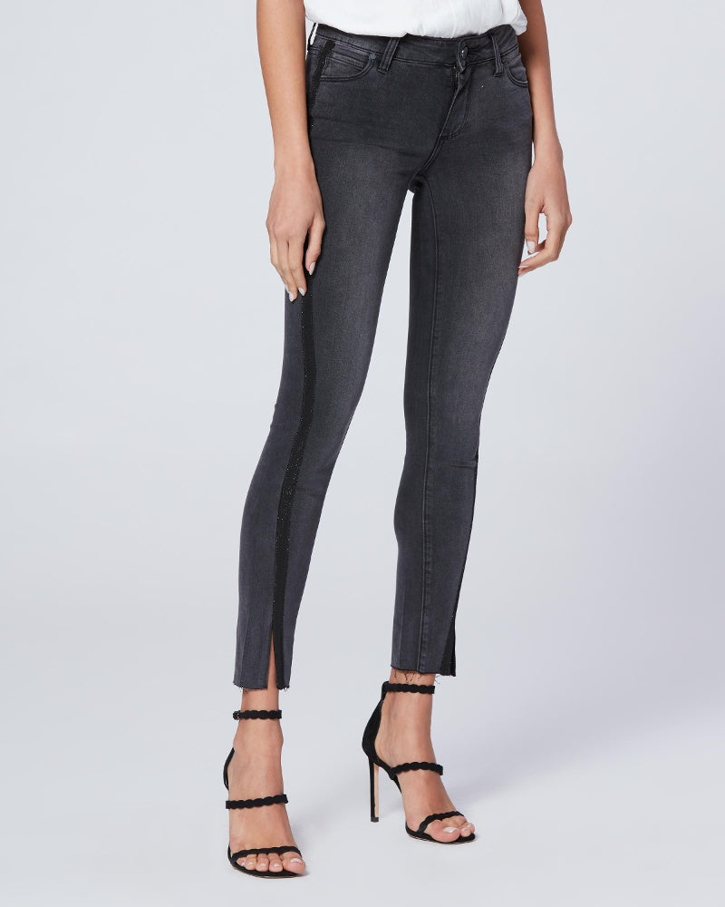 PAIGE Black Granite Twisted Seam Verdugo Ankle Jean