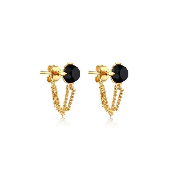 F+H Onyx Eva Earrings