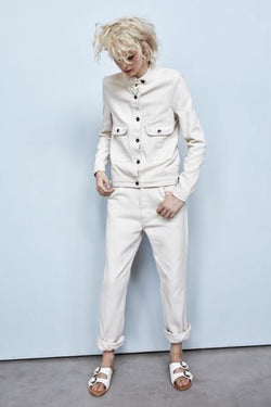 Rabens Saloner Off White Annbrit Drill Jacket