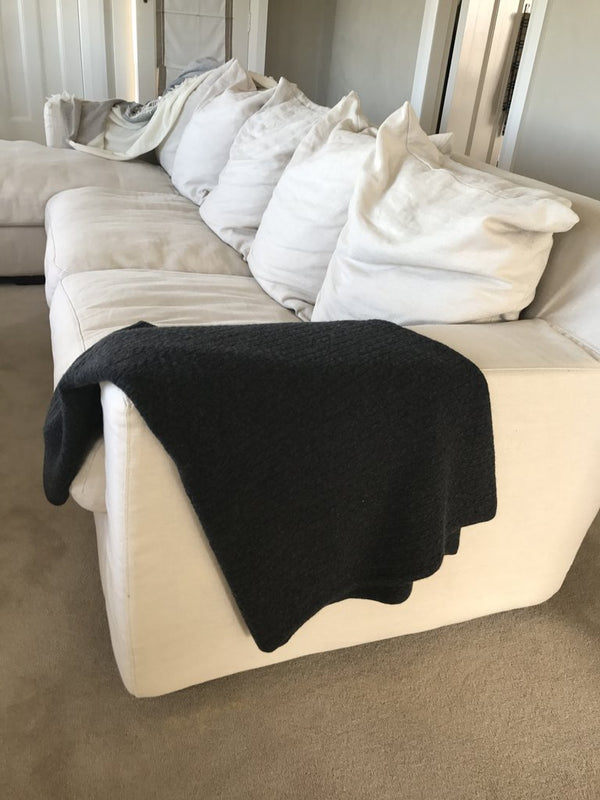 Elle + Riley Cable Knit Blanket