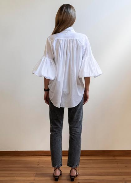 Mahsa White Bow Blouse