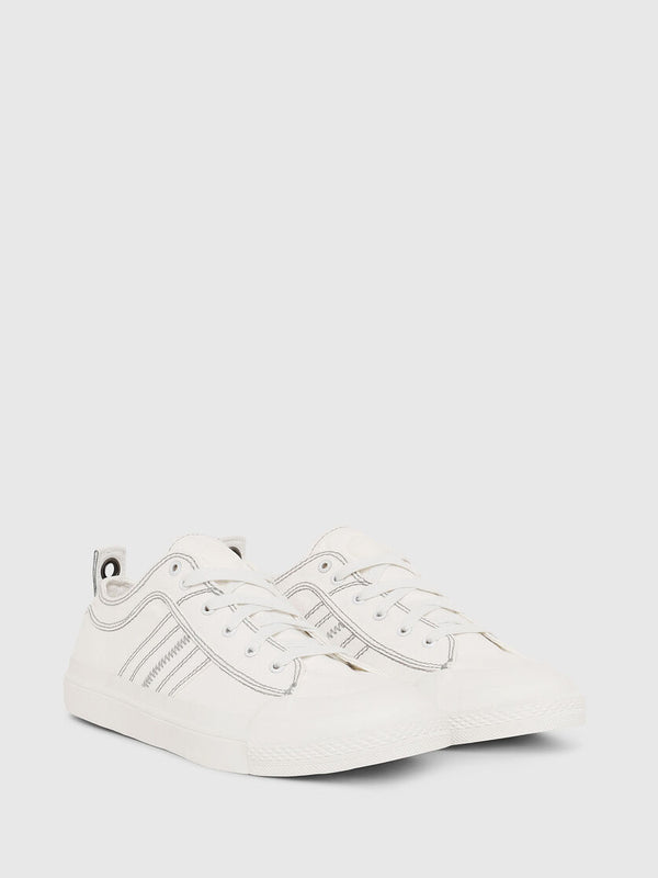 DIESEL Star White Astico Low Lace Sneaker