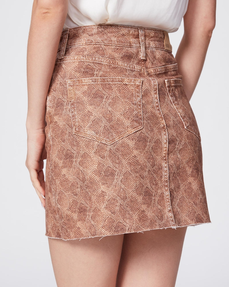 PAIGE Bronze Viper Aideen Skirt