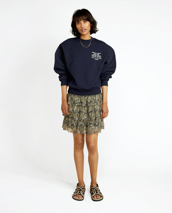 Les Coyotes De Paris Navy Ross Sweatshirt