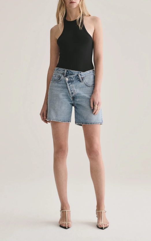AGOLDE Momentum Organic Cotton Criss Cross Short
