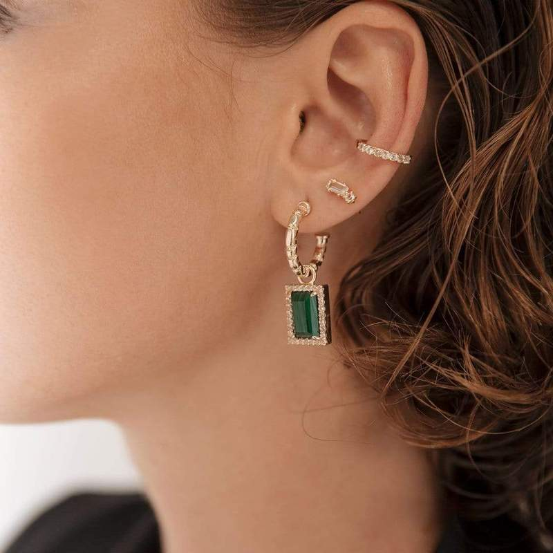 F+H Malachite Divinyls Earrings
