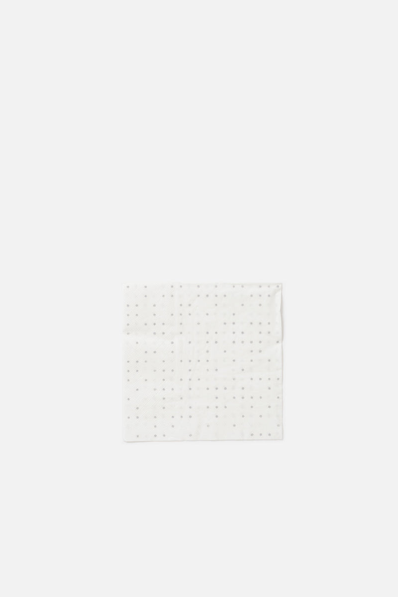 Città White Grey Dieter Dot Paper Napkin Set of 20