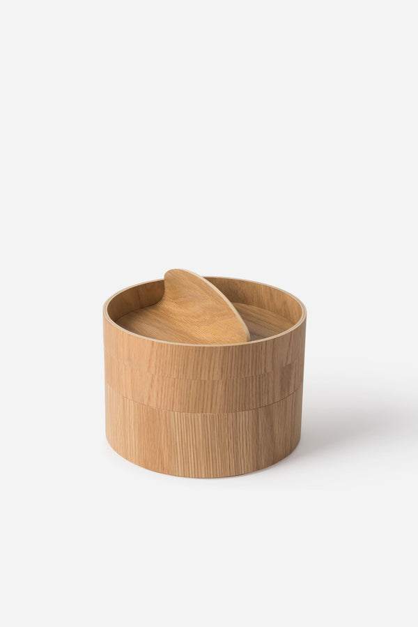 Città Large Natural Oak Gaussian 3 Tier Vessel
