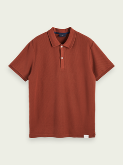 Scotch & Soda Island Brown Pique Polo