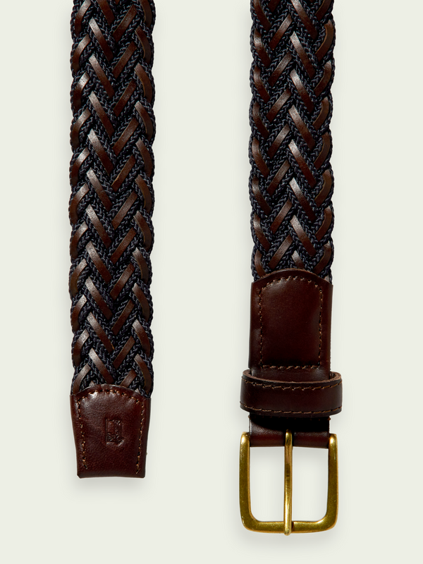Scotch & Soda Leather Cord Belt