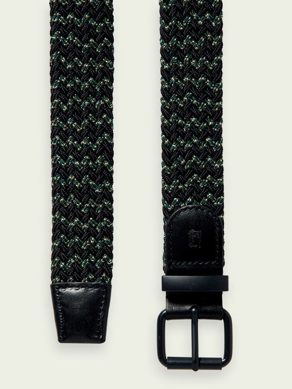 Scotch & Soda Multicoloured Braided Elastic Belt