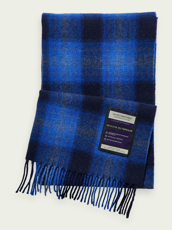 Scotch & Soda Blue Soft Wool Blend Scarf