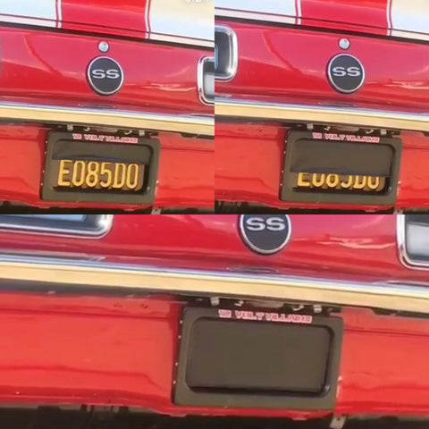 Car and Truck blackout plate frames