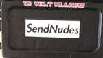 SEND NUDES blackout plate