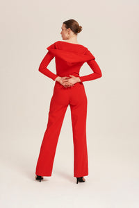 Marjorie Jumpsuit in Red