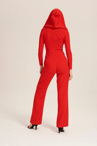 Women wearing Red Kylie Minogue Jumpsuit by Alexandra Long avalible at Natural x Lab