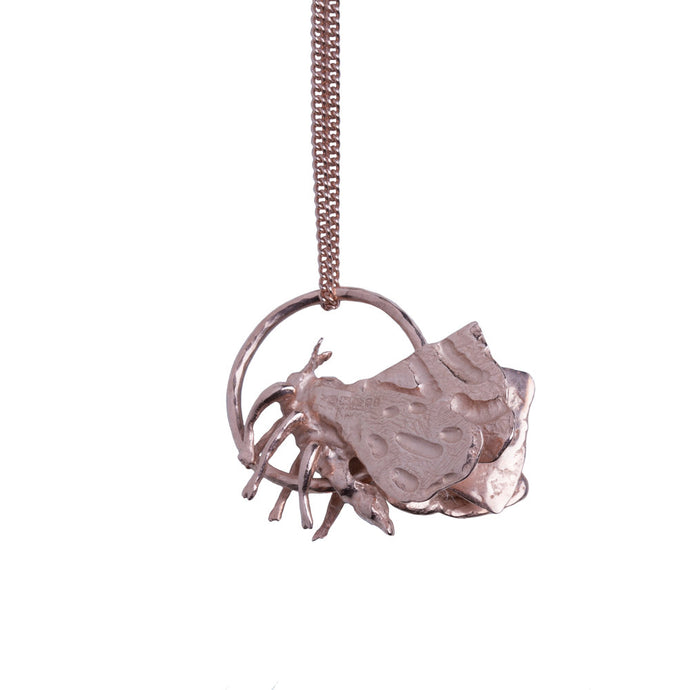 Recycled Gold silver rose gold Moth Necklace by Gung Ho
