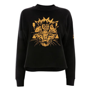 Khanservation Sweatshirt Organic Cotton Black and Yellow Jumper by Gung Ho London at Natural x Lab