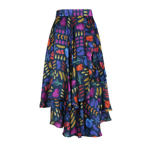 Wrap Midi Skirt Multi Print Eco-Friendly, Sustainable fashion by Gung Ho at Natural x Lab