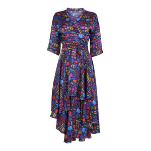Multi Print Wrap Dress Eco-Friendly, Sustainable fashion by Gung Ho at Natural x Lab