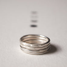 Load image into Gallery viewer, Recycled Silver Stacking Rings
