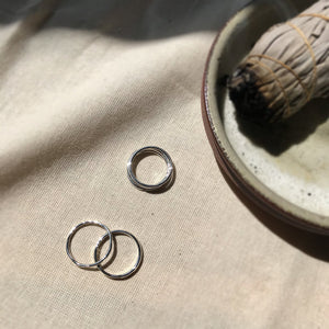 Recycled Silver Stacking Rings