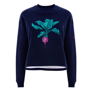 Beetroot Jumper cropped in Navy by Gung Ho at Natural x Lab